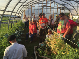 The farmer-driven Northern New York Agricultural Development Program funded twilight meetings for growers with Cornell University NYS Vegetable Specialist Judson Reid. Photo: Amy